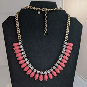 J. Crew Crystal & Coral Collar Necklace